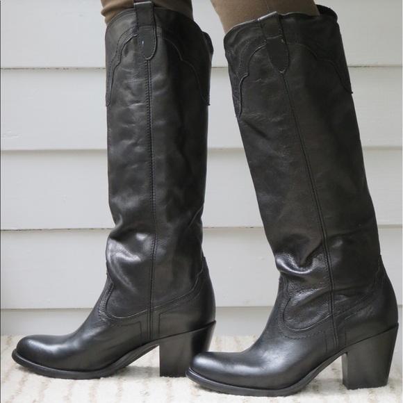 : FRYE Women's Tabitha Pull On Tall Western Boot